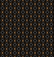 Retro seamless pattern with circles on black vector image vector image