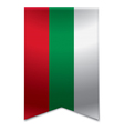 Ribbon banner - bulgarian flag vector image vector image
