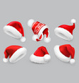 santa claus hatwinter clothes christmas 3d vector image vector image