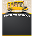 School Bus in Cartoon Style with Pupils vector image vector image