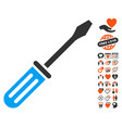 screwdriver icon with love bonus vector image vector image