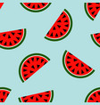 seamless watermelon geometric pattern vector image vector image