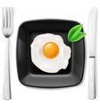 Served fried egg vector image vector image