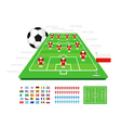 soccer tactical kit vector image