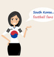 south korea football fanscheerful soccer fans vector image vector image