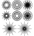 spirograph shapes flowers and snowflakes vector image
