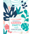 summer party flower invite template vector image vector image