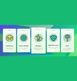 super hero onboarding icons set vector image vector image