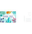 thank you greeting card abstract background vector image