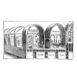 Titus Baths vintage engraving vector image vector image