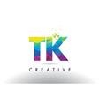 tk t k colorful letter origami triangles design vector image vector image