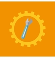 tool box spanner construction icon design vector image