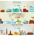Travel and Tourism concept banners Website vector image