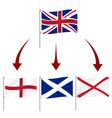 united kingdom great britain breakup flag symbols vector image
