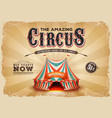 vintage old circus poster with grunge texture vector image vector image