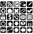 webpage icons collection vector image
