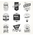 Thank You Monochrome Isolated Signs vector image