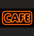 neon glowing cafe vector image
