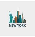 New York city architecture retro vector image