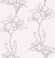 vector seamless background with orchids vector image