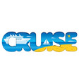 cruise resort and travel vector image