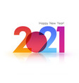 2021 new year abstract shiny color design element vector image