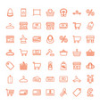 49 retail icons vector image vector image