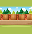 a flat nature background vector image vector image