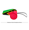 A Whistle of Federation of Saint Kitts and Nevis vector image