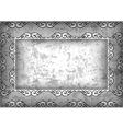 Abstract frame with grunge background vector image vector image