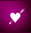 amour symbol with heart and arrow icon isolated vector image vector image