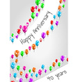 anniversary poster 40 years vector image vector image