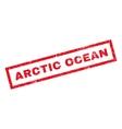 Arctic Ocean Rubber Stamp vector image vector image