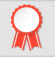 award ribbon icon medal badge on isolated vector image