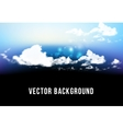 beautiful background with clouds vector image vector image