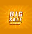 big sale banner label event promotion poster vector image