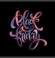 black friday paint hand writting calligraphi vector image vector image
