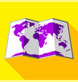 bright colored map vector image vector image
