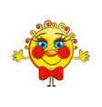 cheerful sun isolate vector image vector image