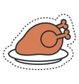 chicken meat isolated icon vector image