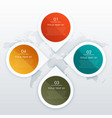 circle and arrow style four steps infographics vector image vector image
