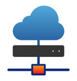 cloud server flat icon computing color icons in vector image vector image