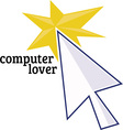 Computer Lover vector image vector image