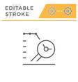 data research editable stroke line icon vector image