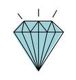diamond elegant isolated icon vector image vector image