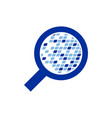 digital data analytic symbol logo design vector image