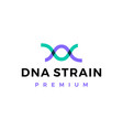 dna strain helix logo icon vector image
