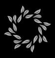 elegant silver textured floral frame vector image vector image