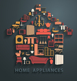 Flat design concepts home appliances icons vector image