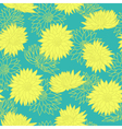 Floral seamless pattern chrysanthemum vector image vector image